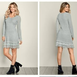 Venus | Lace Hem Sweater Dress